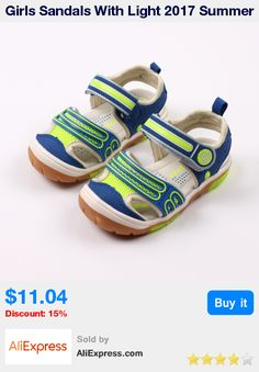 77a880ec53c145 Girls Sandals With Light 2017 Summer Brand Soft Led Boys Girls Shoes Kids  Fashion Beach Sandals For Boys Girls Size 21 26-in Sandals from Mother    Kids on ...