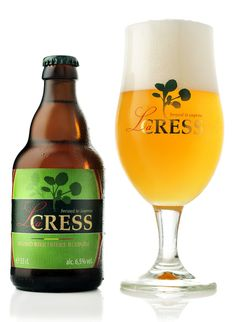 Information about La Cress Belgian beer; La Cress is a special Belgian blonde beer made using watercress and Belgian hops. Beers Of The World, Belgian Beer, Beer Brands, Beer Packaging, Message In A Bottle, Beer Label, Wine And Beer, Best Beer, Home Brewing
