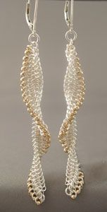 Metalwerx: Chain Maille Earrings: European 4-in-1 Beaded Micromaille Twist Workshop