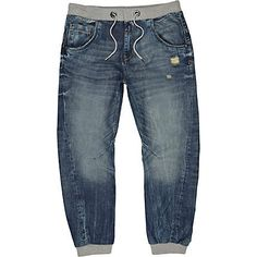 Mid wash Ryan slouch jogger jeans - jogger jeans - jeans - men