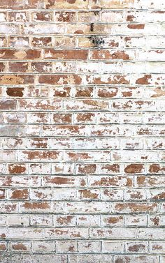 White Painted Brick Wallpaper Mural | Hovia UK