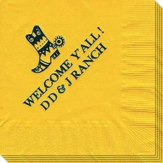 Western Boot Napkins