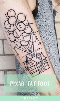 Bring out your inner child with these gorgeous pixar tattoos.