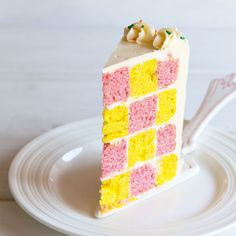 How to Make a Checkerboard Cake That Will Blow Your Guests' Minds via Brit + Co.