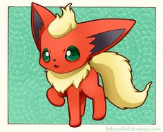 Flareon Chibi by RebeccaKeil on deviantART