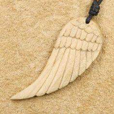 Adlerflügel Holz Schmuck Anhänger