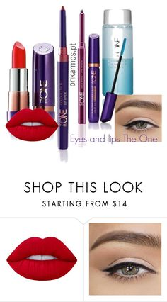 """""""Etes and lips The One by Oriflame"""" by orikarmos on Polyvore featuring beauty and Lime Crime"""