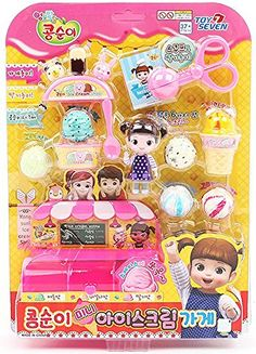 Kongsuni Mini Ice Cream Shop / Character Toy / Making Ice Cream on My Own / Ice Cream Shop Role Play
