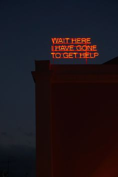 """timetchells.com - Home  Tim Etchells' glorious, heart-rending neon sign. 2006. I want the pink version of this, for a book cover. I can't help noticing the E of his surname joins to his given name to create """"time"""". There's a bookfull in that, as well. . ."""