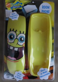 SPONGEBOB desk TELEPHONE corded WALL room phone Sakar squarepants Nickelodeon