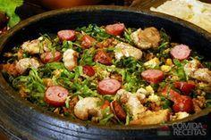 Receita de Farofa de linguiça e couve - Comida e Receitas