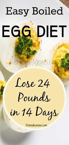 Diet Tips Easy Boiled Egg Diet to Lose 24 Pounds in 14 Days - Lose weight quickly with less exercises.Try boiled egg diet to lose weight and belly fat fast in 2 weeks.Eggs have high protein and burn calories fast. Diet Tips, Diet Recipes, Healthy Recipes, Healthy Foods, Diet Ideas, Are Eggs Healthy, Healthy Detox, Boiled Egg Diet Plan, Recipes