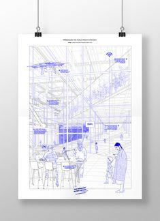 The Fabulous Super-Library, Ernesto Ibáñez – Beta Architectu.- The Fabulous Super-Library, Ernesto Ibáñez – Beta Architecture - Collage Architecture, Architecture Presentation Board, Presentation Layout, Architecture Graphics, Architecture Drawings, Architecture Design, Architectural Presentation, Resume Architecture, Watercolor Architecture