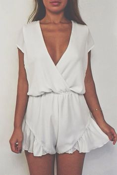 #street #style / summer white playsuit