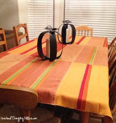 Dish towel Thanksgiving tablecloth.