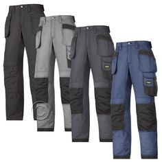 Work Trousers With Kneepad Pockets 6903 Snickers Flexiwork