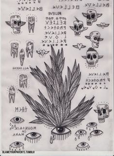 saan  graveyard  tattoo  flash sheet  tattoos  ink  custom tattoo  death  death grips  satan  occult  witchcraft  condom  pork