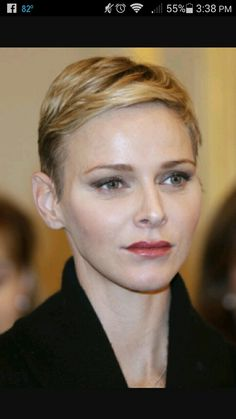 Princess Charlene of Monico Pixie cut