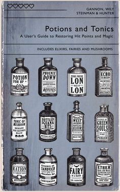 Thirty Days of Videogames - Day 22 By A.J. Hateley    Potions and Tonics - Inspired by Videogame Medicine (Referencing games such as Zelda, Final Fantasy, Metal Gear Solid, Mario, Team Fortress 2 and Fallout)