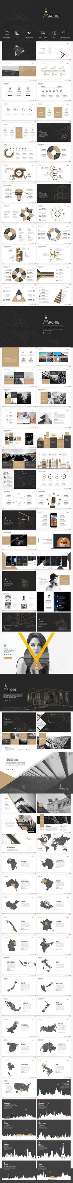 Archie - Animated Presentation Template by afomindia What鈥檚 IncludedArchie Powerpoint Presentation (Full Animation).pptx Archie Powerpoint Presentation (No Animation). Ppt Design, Keynote Design, Design Brochure, Slide Design, Layout Design, Ppt Template Design, Keynote Presentation, Design Presentation, Presentation Slides