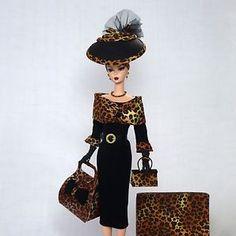 Handmade Vintage Barbie/Silkstone Fashion by Roxy-Leopard & Ultra Suede 15 pcs