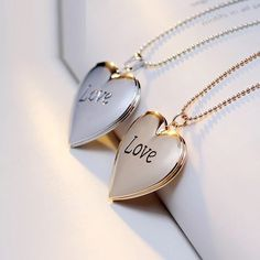 ✨Love Heart Shaped Locket Necklace✨ ✨Love Heart Shaped Locket Necklace ✨ Available in silver or gold ✨ Please comment below with your color preference ✨ Jewelry Necklaces