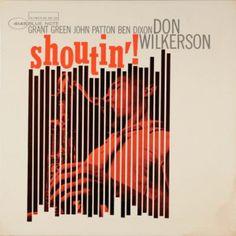 Reid Miles album cover for Blue Note records, Don Wikerson Shoutin' - quite rare record, I believe.