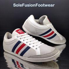 39cfe464f6 Mens adidas Originals White/blue Trainers Sz 9 Plimcana Sneaker US 9.5 EU  43 1/3 for sale online   eBay