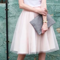 Ingrid. Bliss Tulle- medium knee length  [Art in the Find] the Ashley tulle skirt in blush