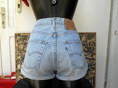 Vintage Levis High Waisted Shorts / Levis 524 Shorts / Retro Levi High Waisted Shorts, Vintage High Waisted Shorts, Levi Shorts, Levis Jeans, Mom Jeans, Vintage Levis, Denim Skirt, Retro, Skirts