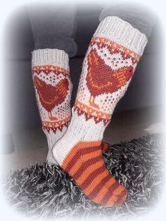 Ravelry: Farmikana pattern by Katja Makkonen Fair Isle Knitting, Knitting Socks, Baby Knitting, Knit Socks, Baby Boy Booties, Cool Socks, Awesome Socks, Sissi, Wool Yarn