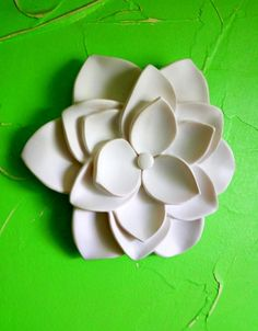 Flower 3d Wall art Lotus wall decor Wall hanging White lotus wall sculpture Polymer clay Modern Home decor Living room decor Gifts under 10   This wall hanging flowers lotus made of the polymeric stone. Painted in matte white color.  Optionally, you can select any other color. Painting in another color will take 3-4 business days. Available in 2 sizes   This is the big flower : 7.5 inches or 19 cm and  the small flower is here: 6 inches or 15 cm…