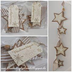 Es sind noch ein paar Sternenbänder entstanden, die ich zum Verschenken entsprechend eingepackt...