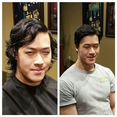 www.CLhairartstudio.com Mens long hair to short haircut with ...