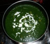 Palak Paneer, an #indian dish made from spinach and paneer (cottage cheese) #india