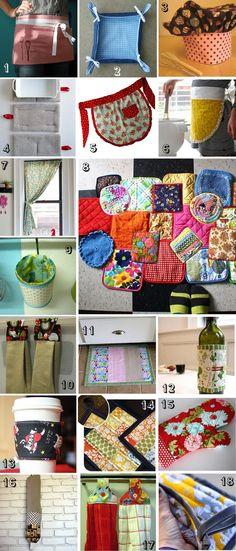 Inspiracion hecha a mano: 18 tutoriales de costura para la cocina