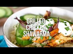 Shawarma-Spiced Grilled Chicken with Garlic Yogurt is an easy, grilled chicken version of the classic Turkish street food usually cooked on a rotating spit.