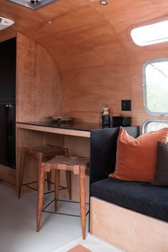 Airstream Motorhome, Airstream Remodel, Airstream Renovation, Airstream Interior, Vintage Airstream, Vintage Campers, Vintage Trailers, Campervan Interior, Solid Surface Countertops