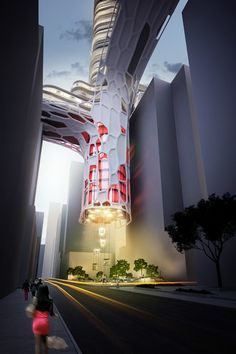 "Proposed ""Elevated Night Club Hotel"" in Hong Kong"