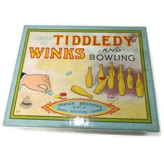 Vintage Tiddledy Winks and Bowling Game - 1910 Edition, Parker Brothers, Complete Set, Original Box, Rare Excellent Condition