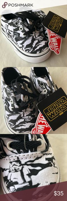 new product bdf01 497e5 Shop Kids  Vans Black White size Sneakers at a discounted price at  Poshmark. Description  Limited Edition NWT Star Wars Storm Trooper VANS  Toddle No Box ...