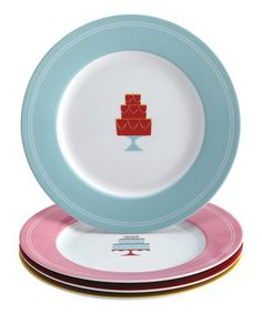 Retro Cake Dessert Plate Set by Cake Boss #zulily #zulilyfinds
