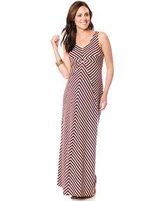 afe26239a1c Motherhood Maternity Sleeveless Chevron-Stripe Maxi Dress Maternity Dresses
