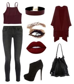 """""""Gorgeous"""" by jill-hubbard on Polyvore featuring Frame Denim, Aéropostale, Giuseppe Zanotti, Vanessa Mooney, Lime Crime, The Row and Loeffler Randall"""