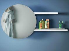 Specchio a parete con contenitore PUNTO by Lago design Daniele Lago