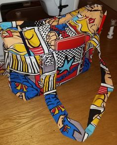 Comic book bag by Quiltingadream on Etsy