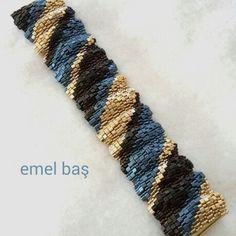 Triangle miyuki bracelet by Emel Bas from Turkey