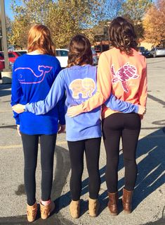 Vineyard Vines, Ivory Ella, and Makai Clothing Co. long sleeve t-shirts. Friend goals