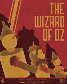 Wizard of Oz Movie Poster by Susie Morris, via Behance