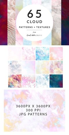 Cloud Textures Pack by Coral Antler Creative on @creativemarket